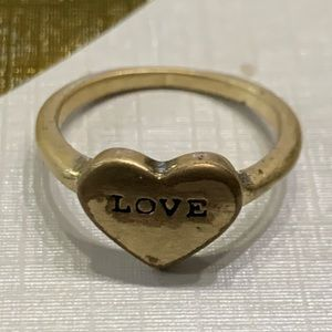 5 for $10 jewelry sale gold heart love ring